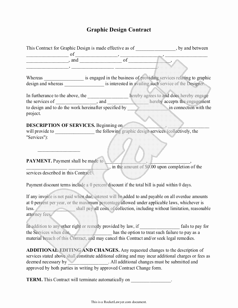 Graphic Design Business Contract