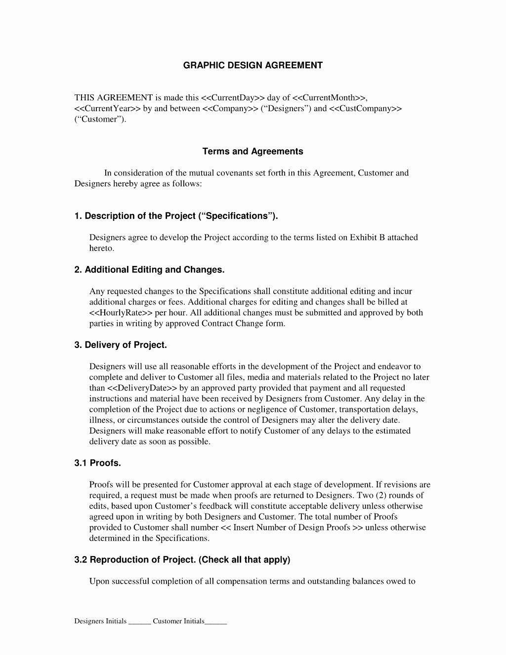 graphic design contract agreement 2