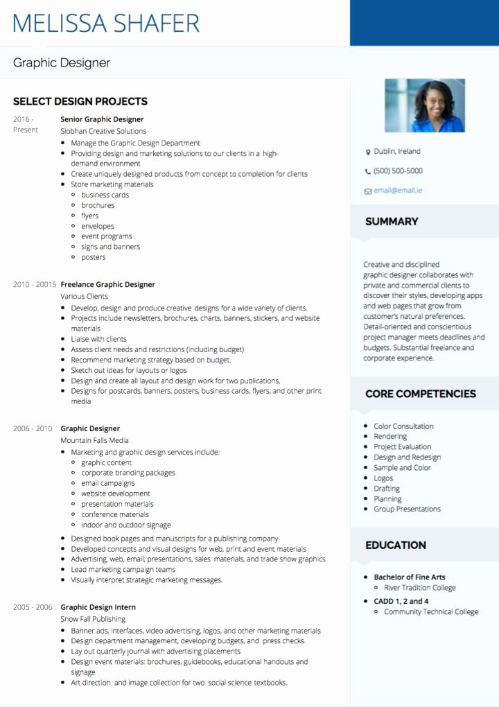 Graphic Design Cv Examples & Templates