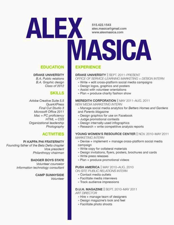 Graphic Design Cv Examples Resume Template