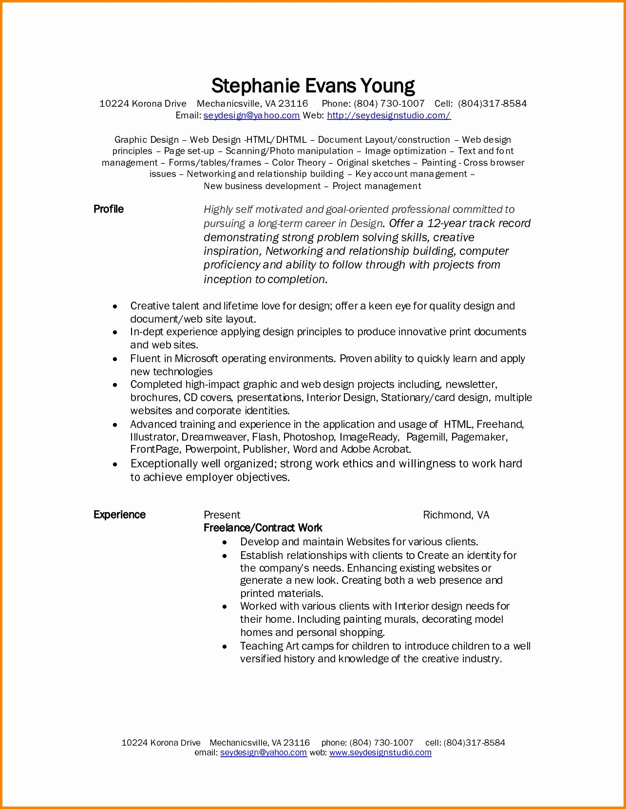 Graphic Design Freelance Contract Template with Freelance