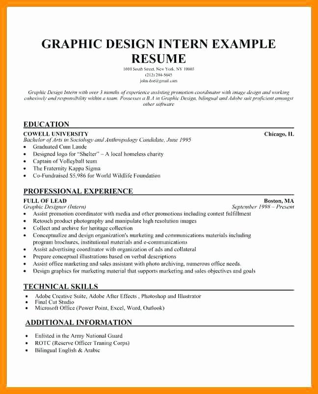 Graphic Design Internships Chicago Resume Graphic Designer