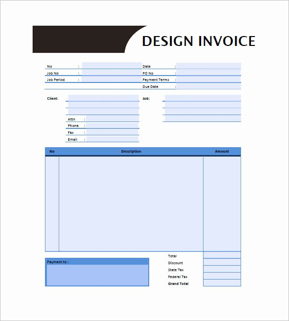 Graphic Design Invoice Templates 12 Free Word Excel
