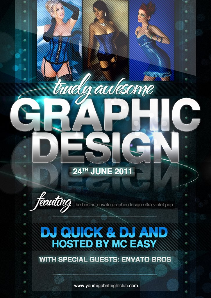 Graphic Design Nightclub event Psd Flyer Template