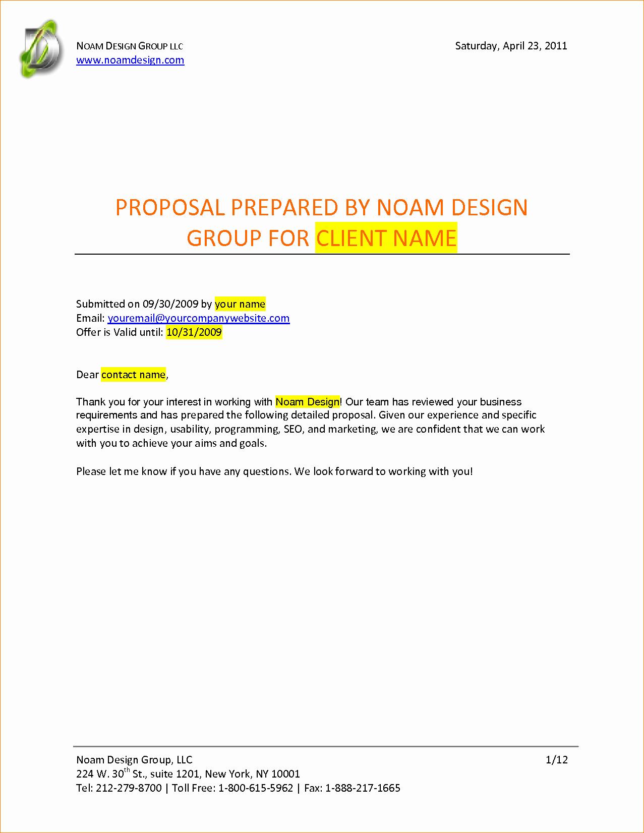 Graphic Design Proposal Example Portablegasgrillweber