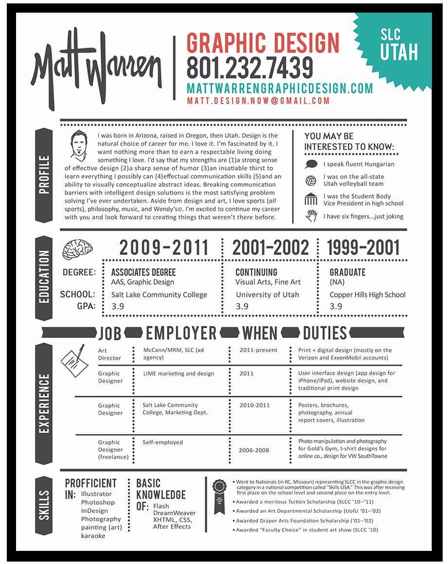 Graphic Design Resume Example Resume Graphic Designer