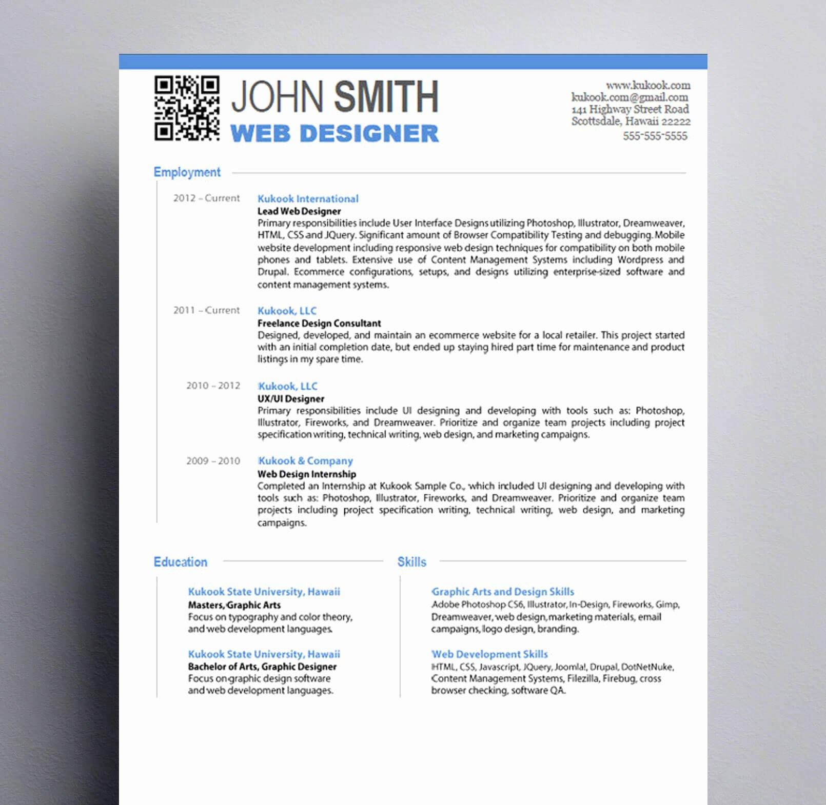 Graphic Design Resume Kukook