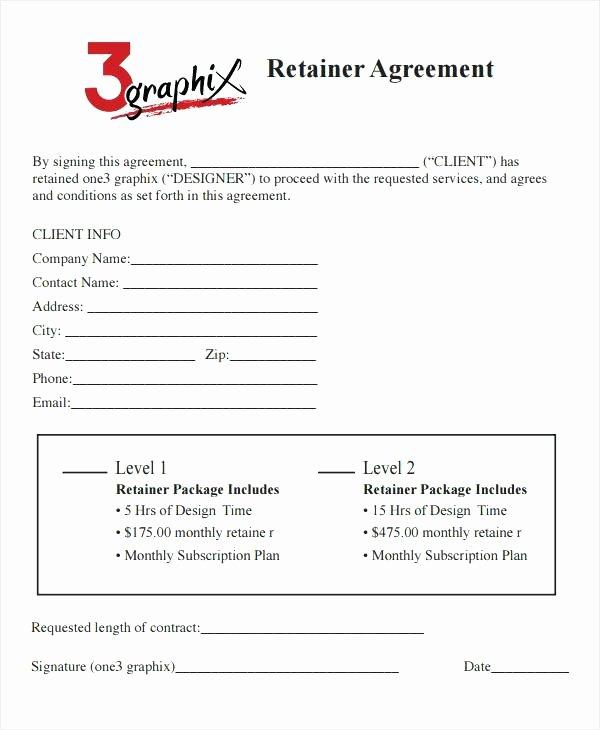 Graphic Design Retainer Agreement Sample Retainer