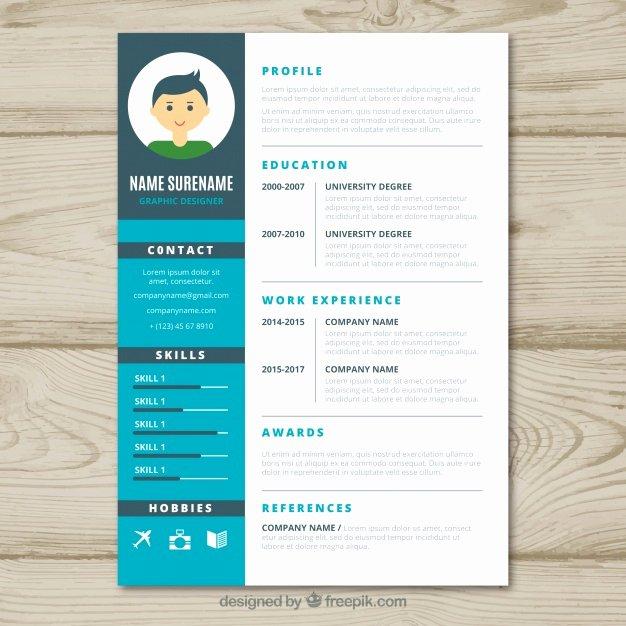 Graphic Designer Cv Template Vector