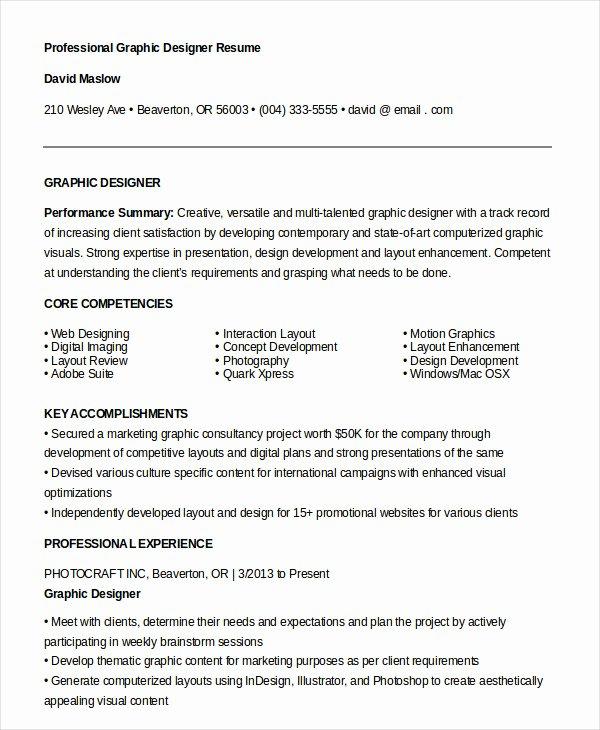 Graphic Designer Resume 7 Free Sample Example format
