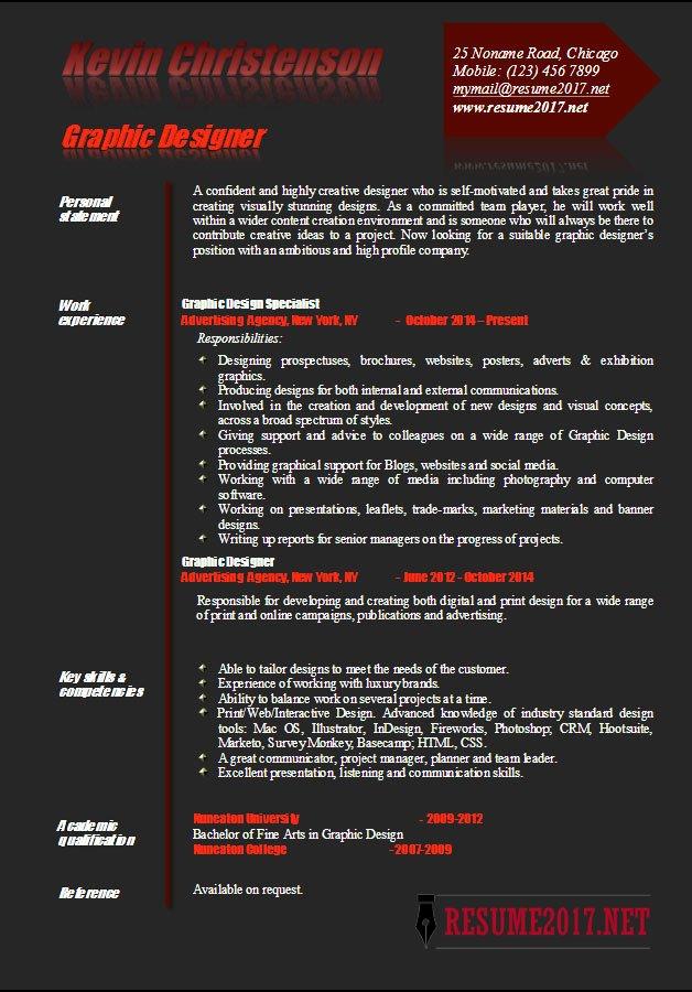 graphic designer resume examples 2017