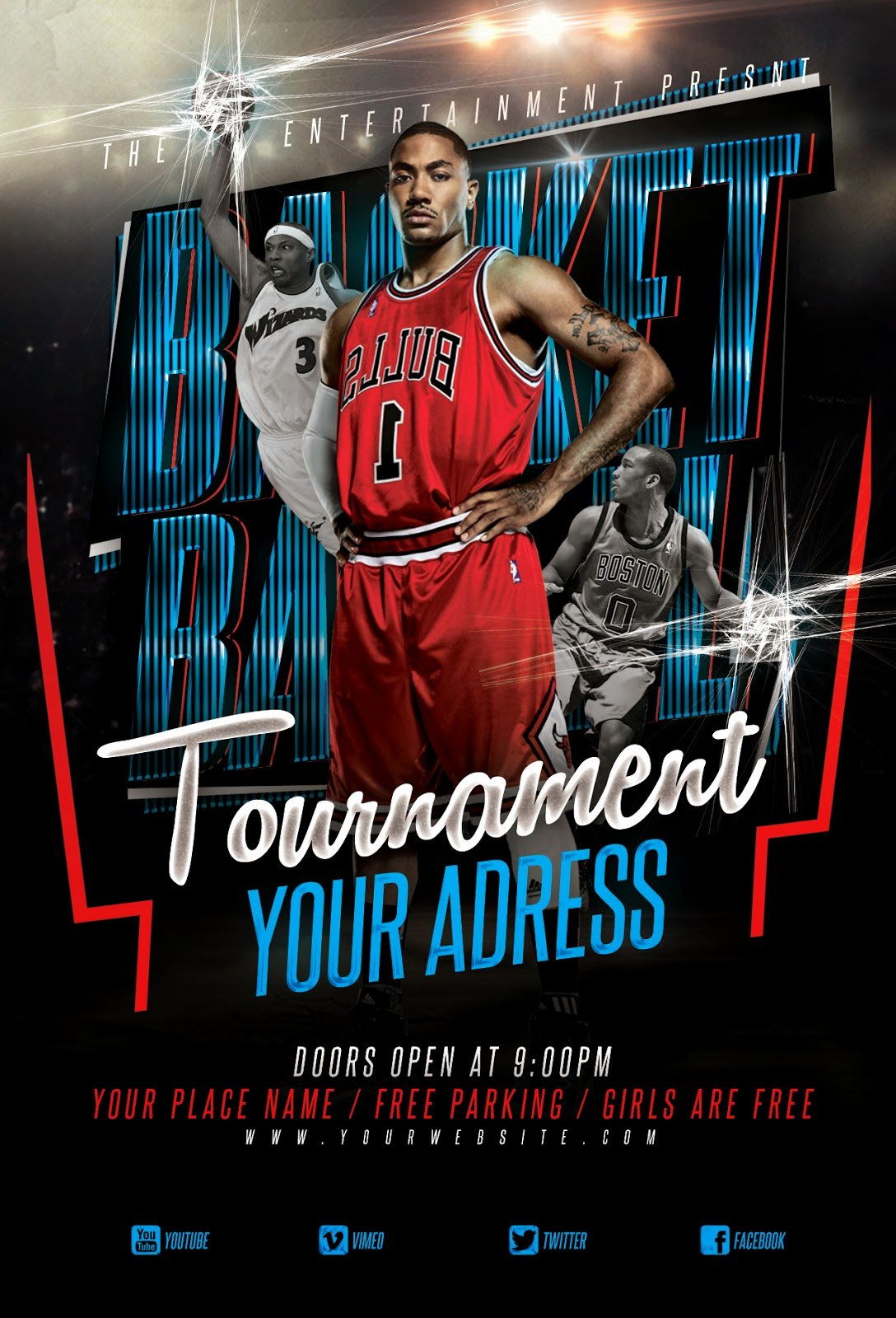 Graphicalla Basketball tournament Flyer Template