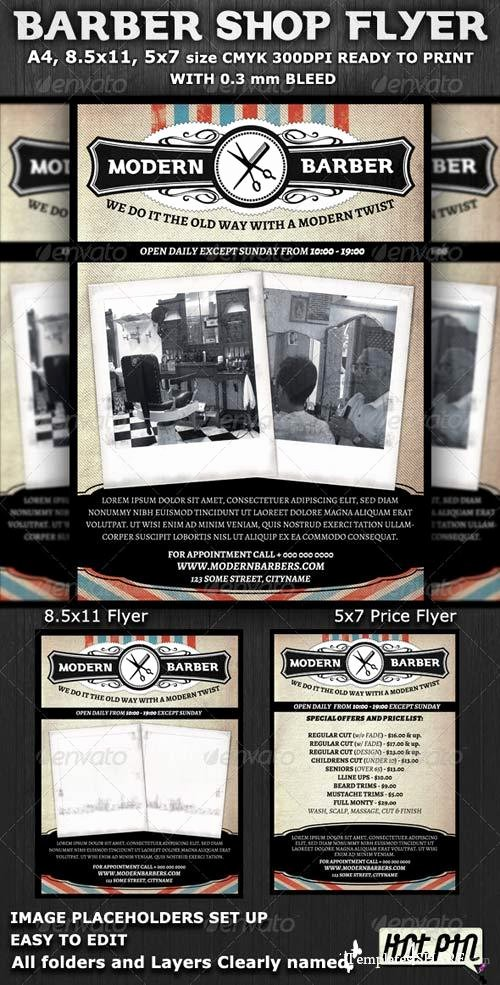 Graphicriver Barber Shop Flyer Template Templates4share