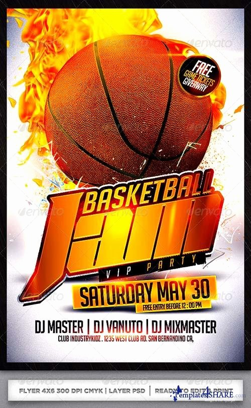Graphicriver Basketball Flyer Template Templates4share