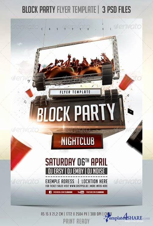 Graphicriver Block Party Flyer Template Templates4share