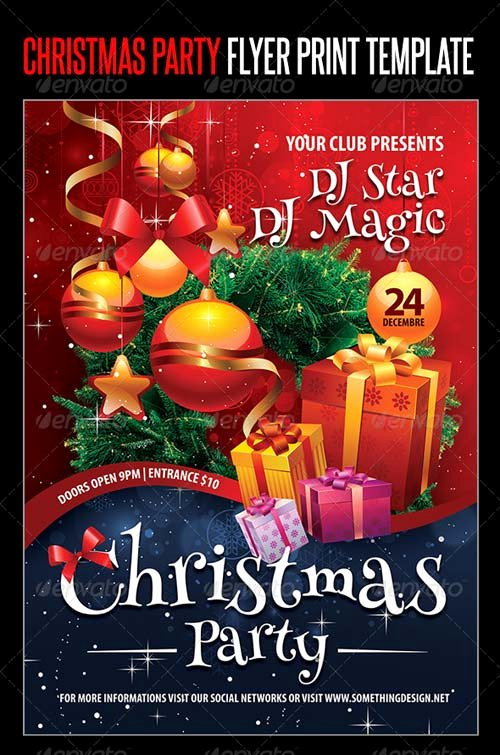 Graphicriver Christmas Party Flyer Print Template