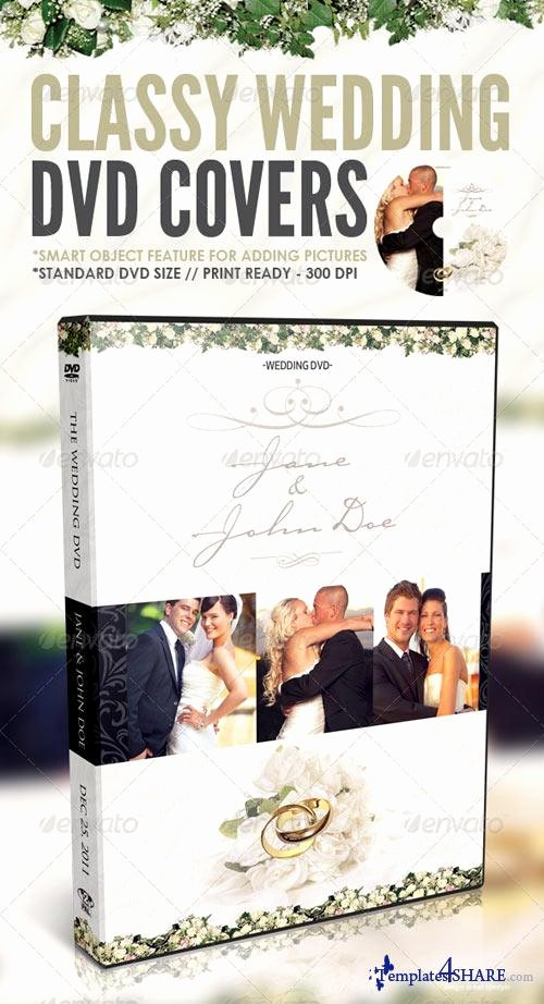 Graphicriver Classy Wedding Dvd Covers Templates4share