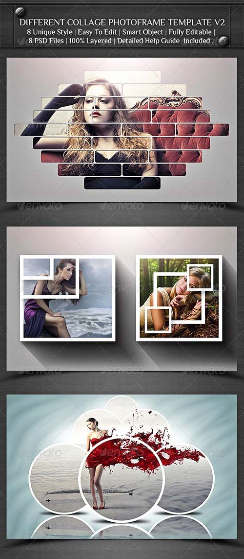 Graphicriver Different Collage Frame Template V2