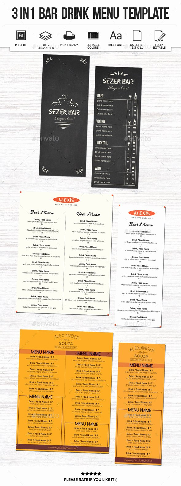 Graphicriver Drink Menu Dondrup