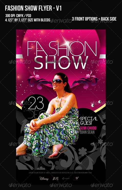 Graphicriver Fashion Show Flyer V1