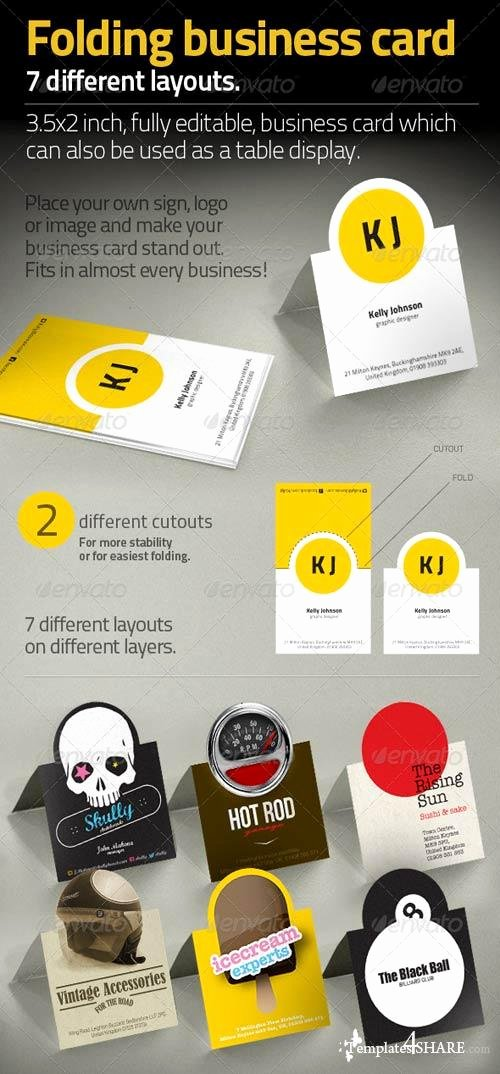 Graphicriver Folding Business Card Templates4share