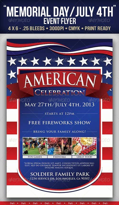 "Graphicriver ""american"" Memorial Independence Day event Flyer"