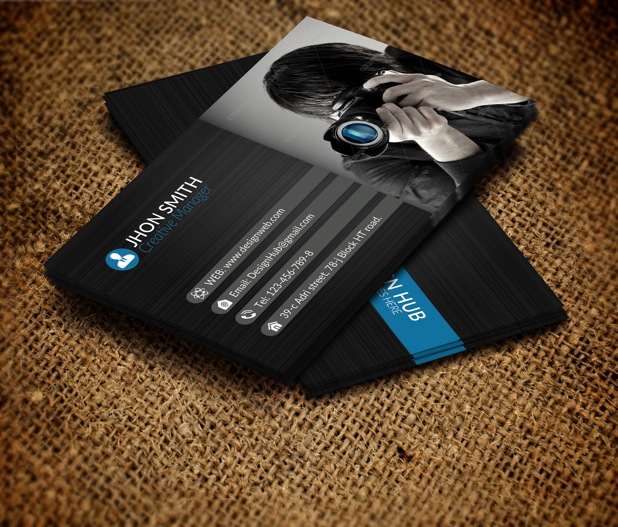 Graphy Business Card Template Business Card