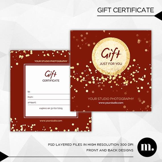 Graphy Christmas Gift Certificate Template for by