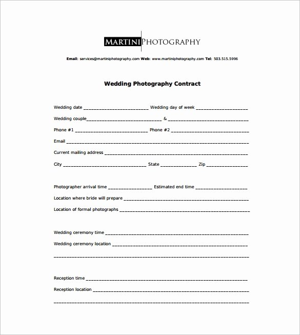 Graphy Contract 9 Download Free Documents In Word Pdf