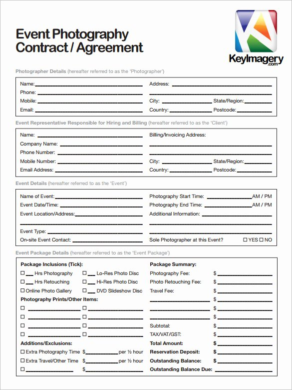 Graphy Contract Template – 10 Free Word Pdf