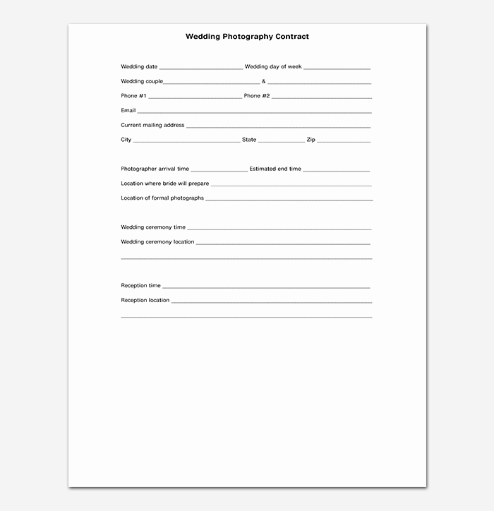Graphy Contract Template 40 Free In Word Pdf