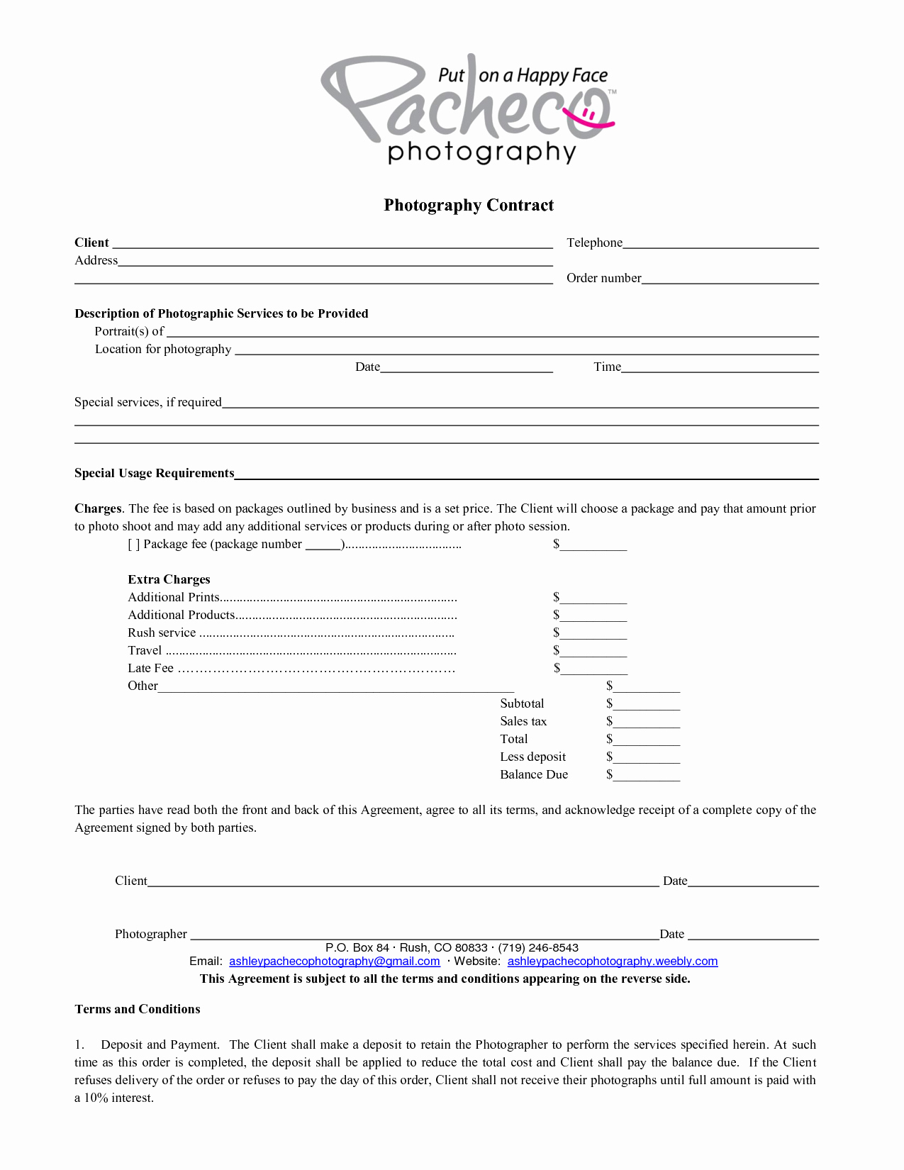 Graphy Contract Template Beepmunk