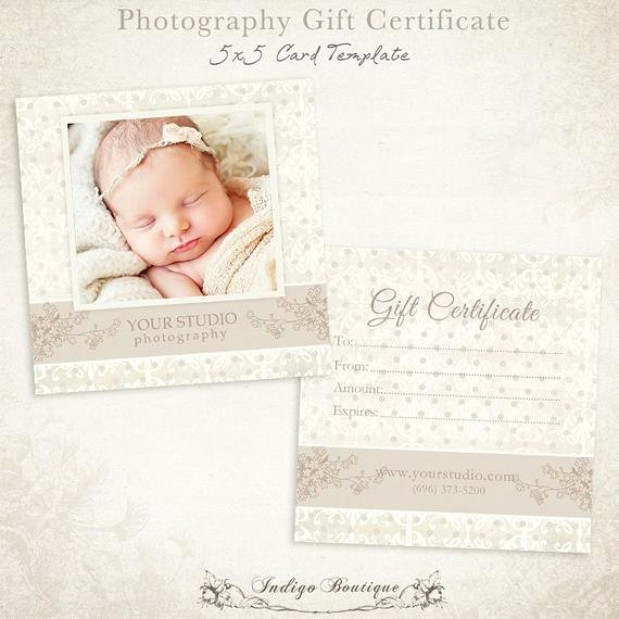 Graphy Gift Certificate Photoshop Template by