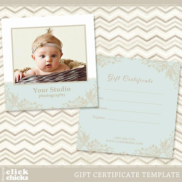 Graphy Gift Certificate Template 004 C044 Instant