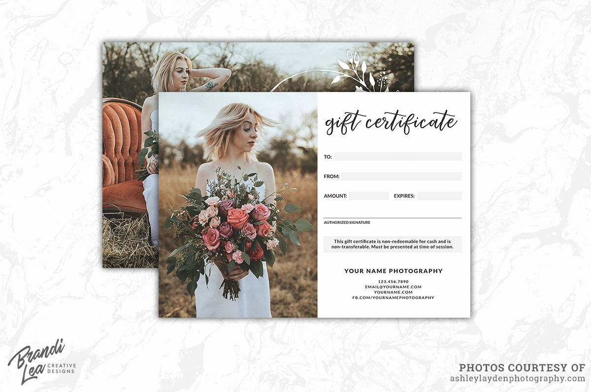 Graphy Gift Certificate Template B