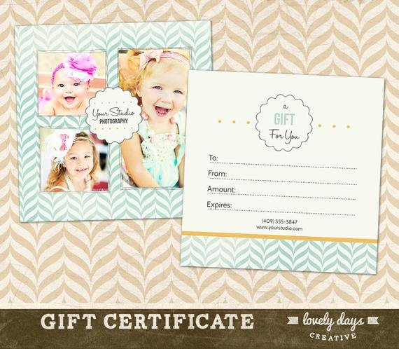 Graphy Gift Certificate Template for by