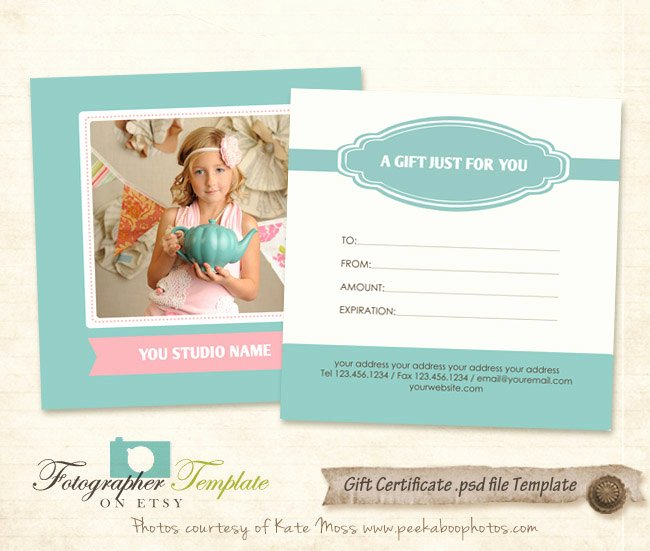 Graphy Gift Certificate Template Free