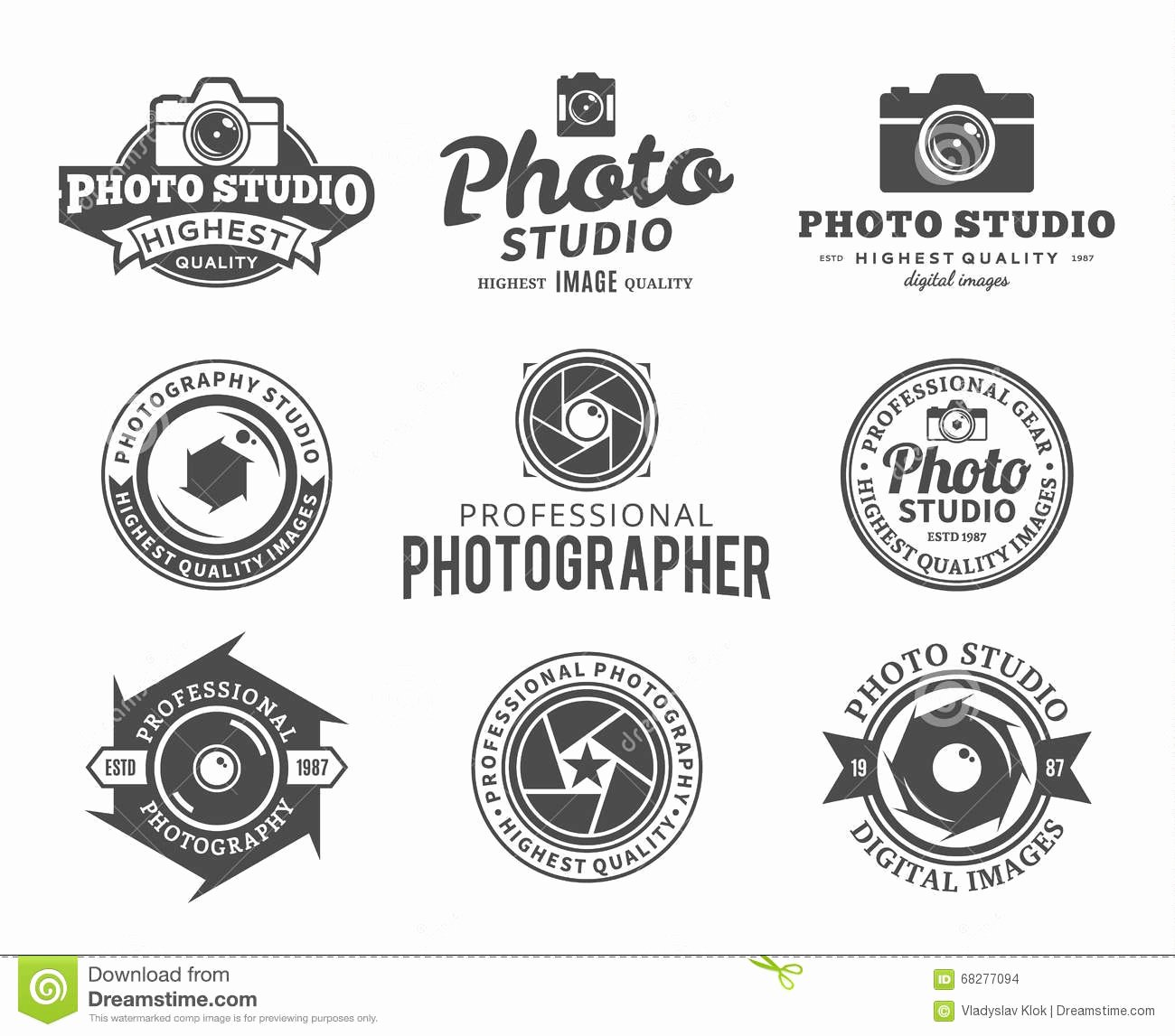 Graphy Studio Logo Labels Icons and Design Elements