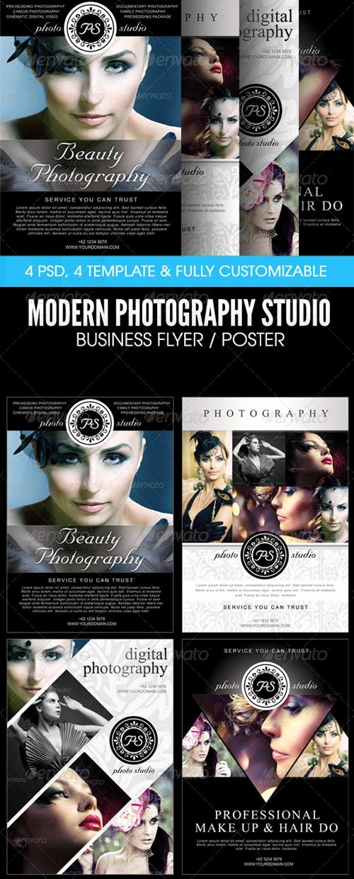 Graphy Studio Poster Template Freepsdfile