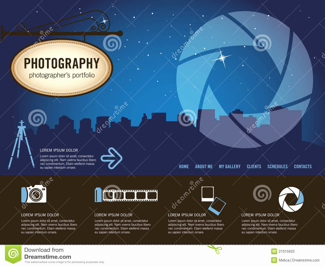 Graphy Website Template Royalty Free Stock