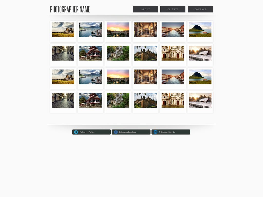 Graphy Website Template