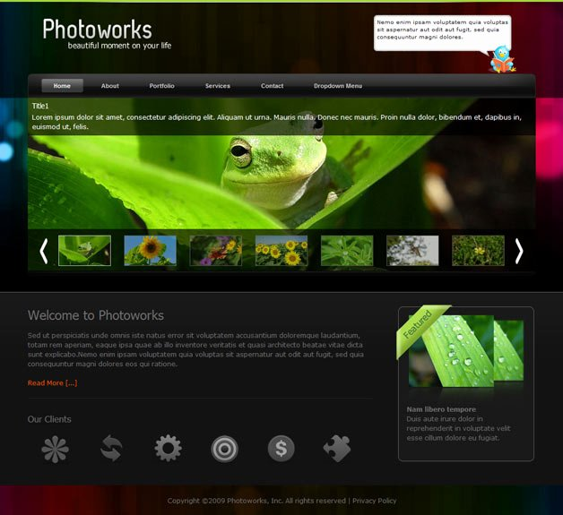 Graphy Website Templates