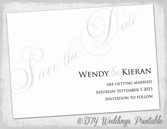 Gray Save the Date Template Diy Wedding Save the Dates You