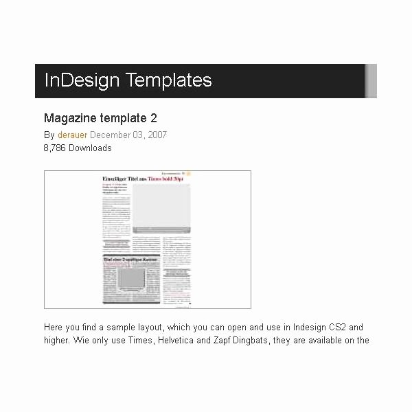 Great Free Magazine Layout Templates Use as is or Get