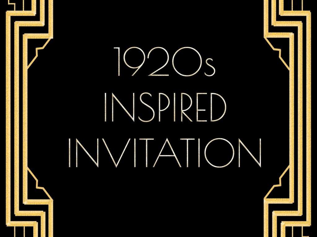 Great Gatsby Invitation Template Cobypic