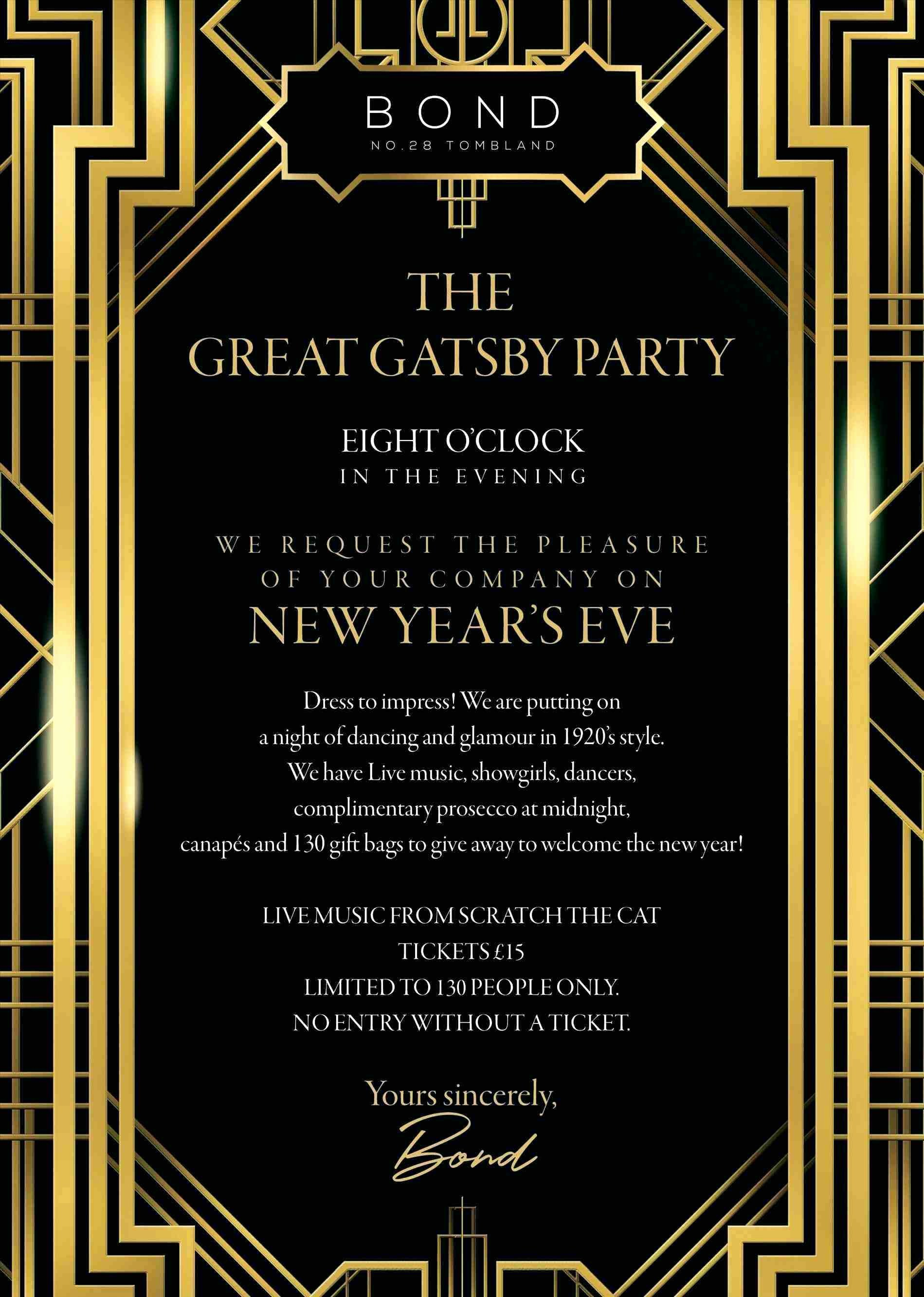 Great Gatsby Invitation Template Latter Example Template