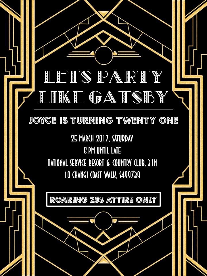 Great Gatsby Party Invitation