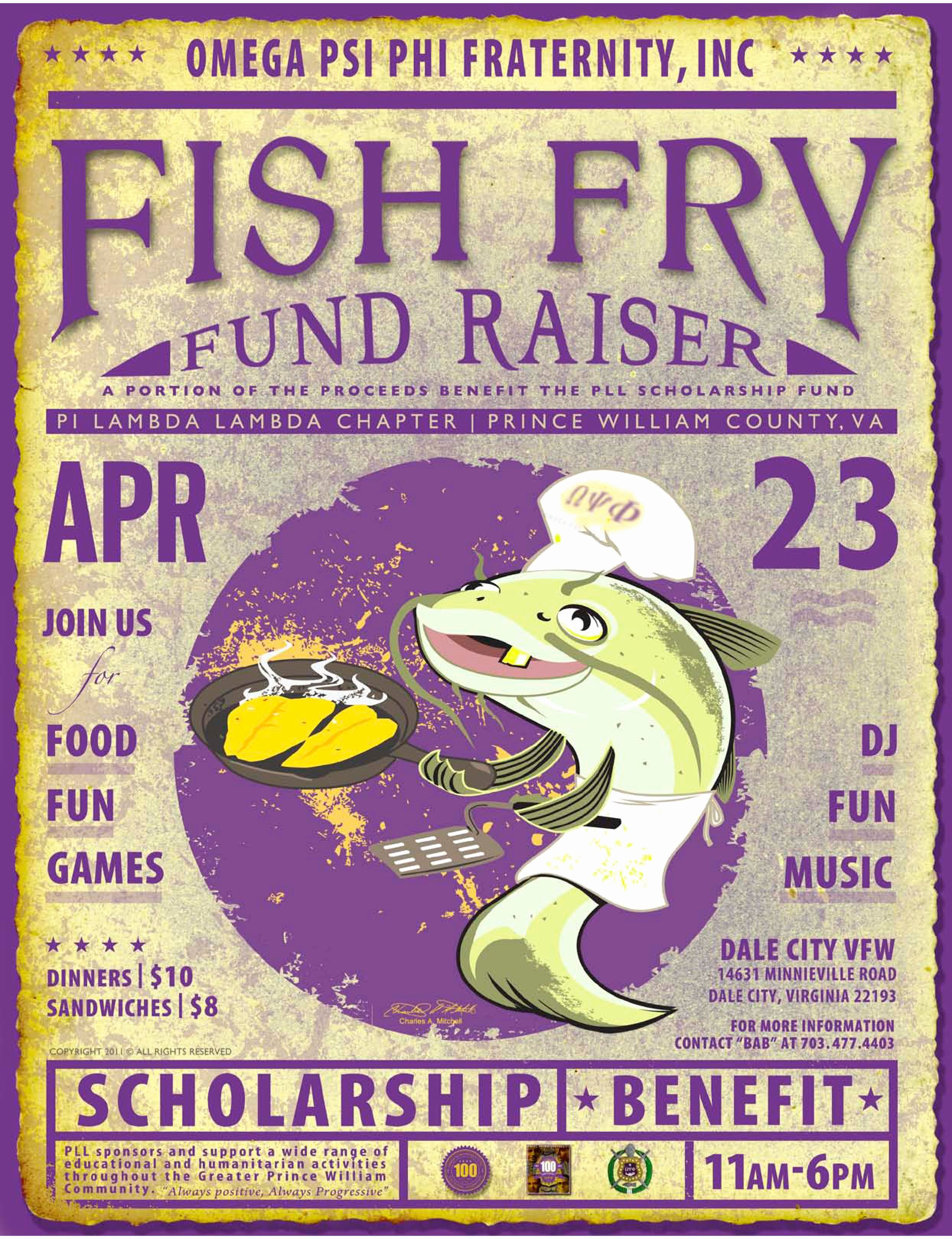 Great Poster for A Fish Fry Fundraising event You Can