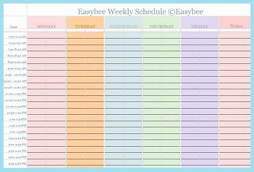 Great Scheduling Templates Easybee Schedule