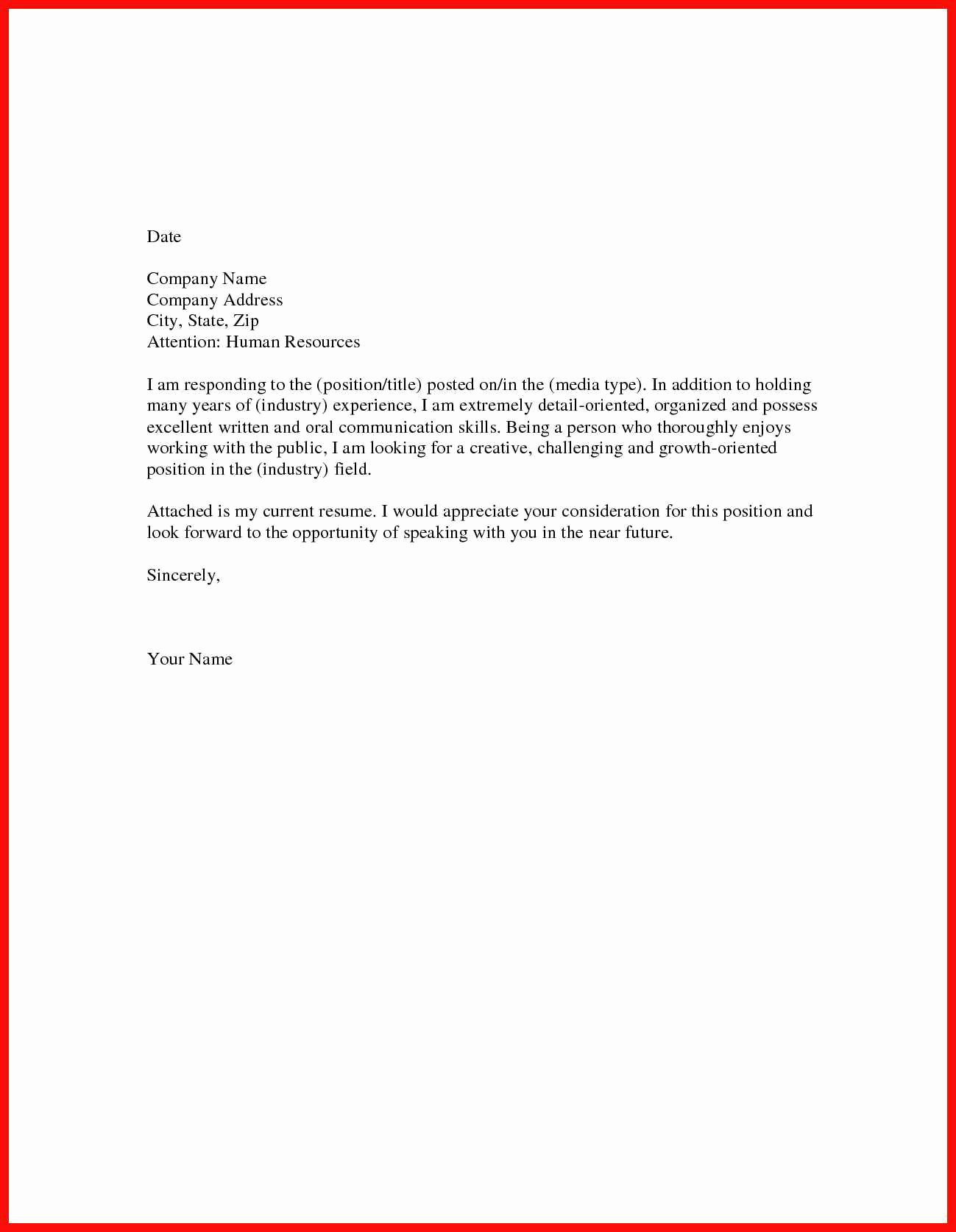 Great Short Cover Letters